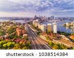 soft morning light over sydney...   Shutterstock . vector #1038514384