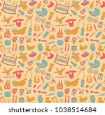seamless background on the... | Shutterstock .eps vector #1038514684