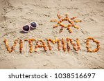 sunglasses  inscription vitamin ... | Shutterstock . vector #1038516697