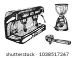 Vector Set With Coffee Machine...