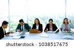 Small photo of Business meeting concept : Businessmen and business executives in the preparation of the report topic before the start of the meeting. Selective Focus