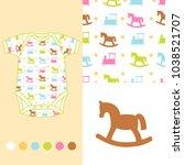 vector fashion design set for... | Shutterstock .eps vector #1038521707