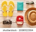 Travel And Beach Items Flat Lay ...