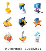 icons for science  education... | Shutterstock .eps vector #103852511