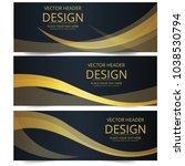 abstract banner header web... | Shutterstock .eps vector #1038530794