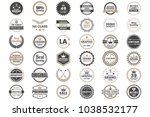 vintage retro vector logo for... | Shutterstock .eps vector #1038532177