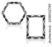silhouette carved frame for... | Shutterstock .eps vector #1038532789