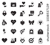 solid black vector icon set  ... | Shutterstock .eps vector #1038537139