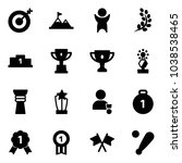 solid vector icon set   target... | Shutterstock .eps vector #1038538465