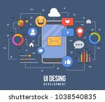 flat illustration for ui ux... | Shutterstock .eps vector #1038540835