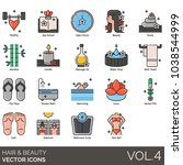 hair   beauty icons. healthy ...   Shutterstock .eps vector #1038544999