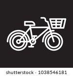 white and black city bike logo... | Shutterstock .eps vector #1038546181