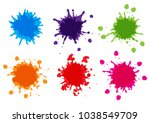 vector color paint splatter... | Shutterstock .eps vector #1038549709