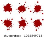 vector red color paint splatter ... | Shutterstock .eps vector #1038549715