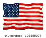 us flag made of paper | Shutterstock . vector #103855079