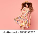 portrait of fashion graceful... | Shutterstock . vector #1038551917