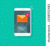 new email notification on... | Shutterstock .eps vector #1038552481