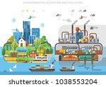 ecological ecosystem and... | Shutterstock .eps vector #1038553204
