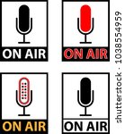 on air icon  current status on... | Shutterstock .eps vector #1038554959