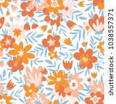 trendy seamless floral ditsy... | Shutterstock .eps vector #1038557371