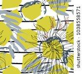 tropical  stripe  animal motif. ... | Shutterstock .eps vector #1038558571