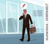 angry businessman in business... | Shutterstock .eps vector #1038564817