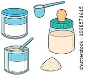 vector set of milk powder | Shutterstock .eps vector #1038571615