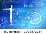 abstract background technology... | Shutterstock .eps vector #1038573259