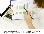 mage of business document being ... | Shutterstock . vector #1038573745