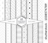 big set of vector seamless... | Shutterstock .eps vector #1038574789