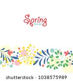 bright spring background with... | Shutterstock .eps vector #1038575989