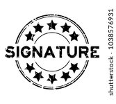 grunge black signature word... | Shutterstock .eps vector #1038576931