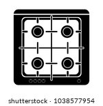 gas stove icon vector four gas... | Shutterstock .eps vector #1038577954
