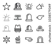 police icons. set of 16...   Shutterstock .eps vector #1038579349