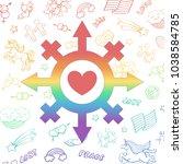 vector rainbow symbol of a... | Shutterstock .eps vector #1038584785