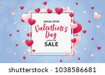 valentine's day love and... | Shutterstock . vector #1038586681
