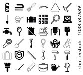 handle icons. set of 36... | Shutterstock .eps vector #1038587689