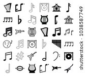 melody icons. set of 36... | Shutterstock .eps vector #1038587749