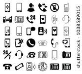 telephone icons. set of 36... | Shutterstock .eps vector #1038589015