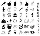 fresh icons. set of 36 editable ... | Shutterstock .eps vector #1038589051