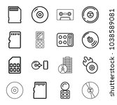 compact icons. set of 16... | Shutterstock .eps vector #1038589081