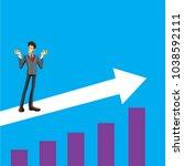 when a business man succeeds ... | Shutterstock .eps vector #1038592111