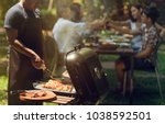 afternoon party  barbecue and... | Shutterstock . vector #1038592501