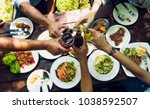 people are eating on vacation.... | Shutterstock . vector #1038592507