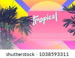 80's style vintage neon bright... | Shutterstock .eps vector #1038593311