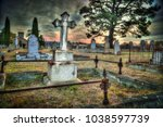 Spooky Graveyard At Sunset