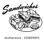 sandwiches 2   retro clipart... | Shutterstock .eps vector #103859891