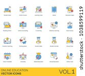 study desk  online course ...   Shutterstock .eps vector #1038599119