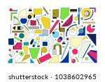 mega set of unique original... | Shutterstock .eps vector #1038602965