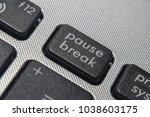 pause break keyboard buttons   Shutterstock . vector #1038603175